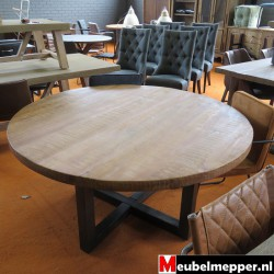 tafel Iron Wood White Small